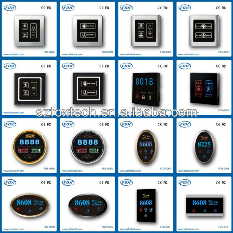 hot selling fashionable crystal glass touch screen hotel doorbell