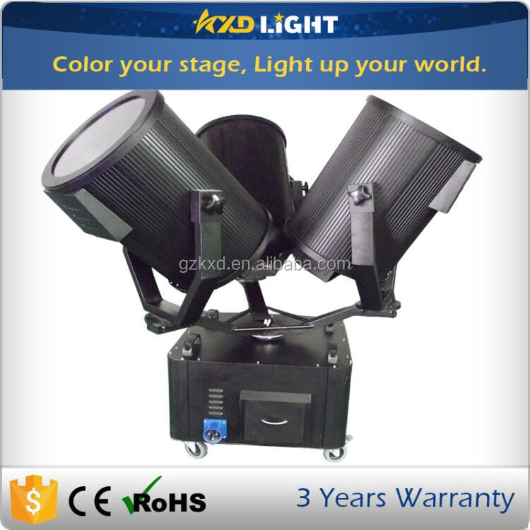 1KW-5KW Optional Three Heads Outdoor LED Sky Tracker Light