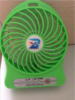 Lovely flash USB mini fan on table with promotional price