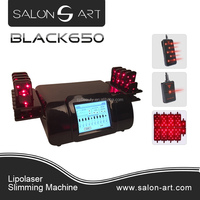BLACK650 Promotion !! 2016 new design home use lipolaser laser beauty machine lipolaser for slim freezer weight loss