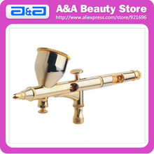 Gold Plated Double Action <strong>Airbrush</strong> with 9CC Cup 0.2-0.3mm Nozzle