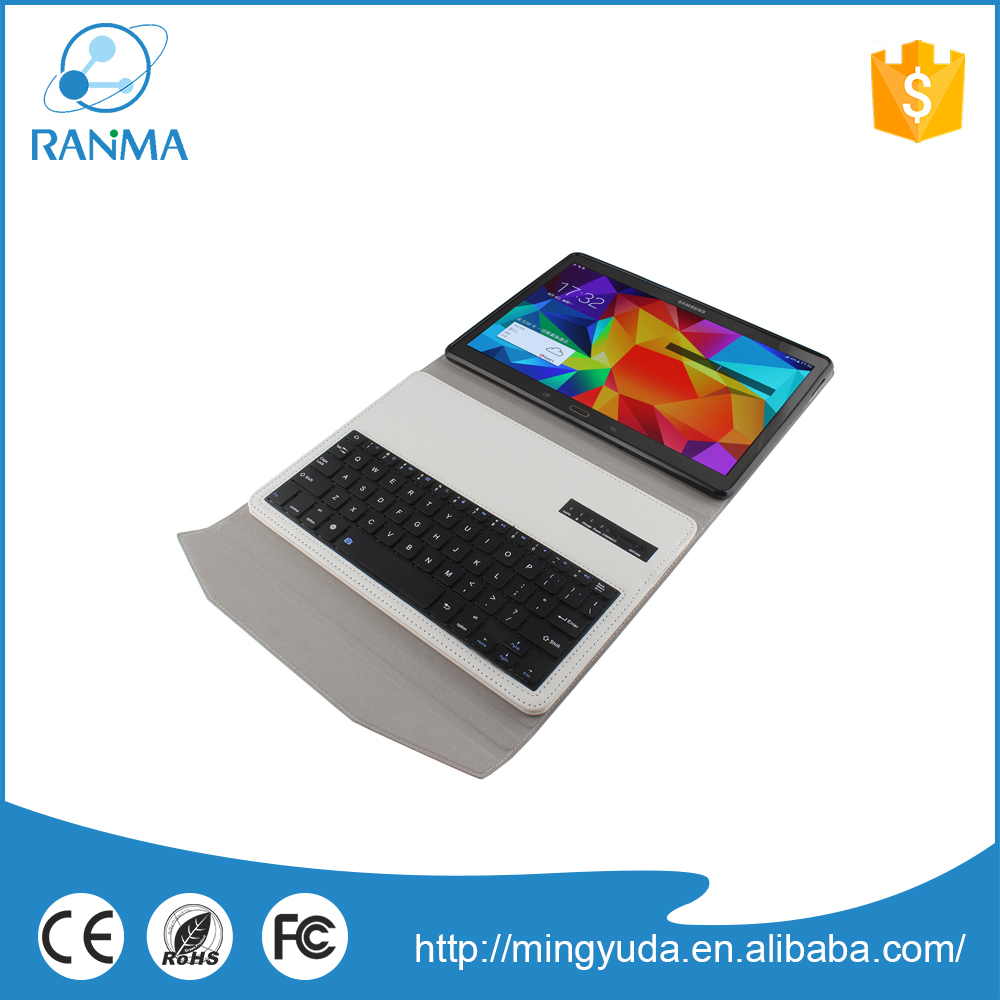 Portable pu leather wireless bluetooth keyboard with stand