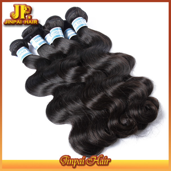 Virgin Jp Hair 2015 Raw Silk Real Indian Remy Hair Wavy Dark Brown Vietnam