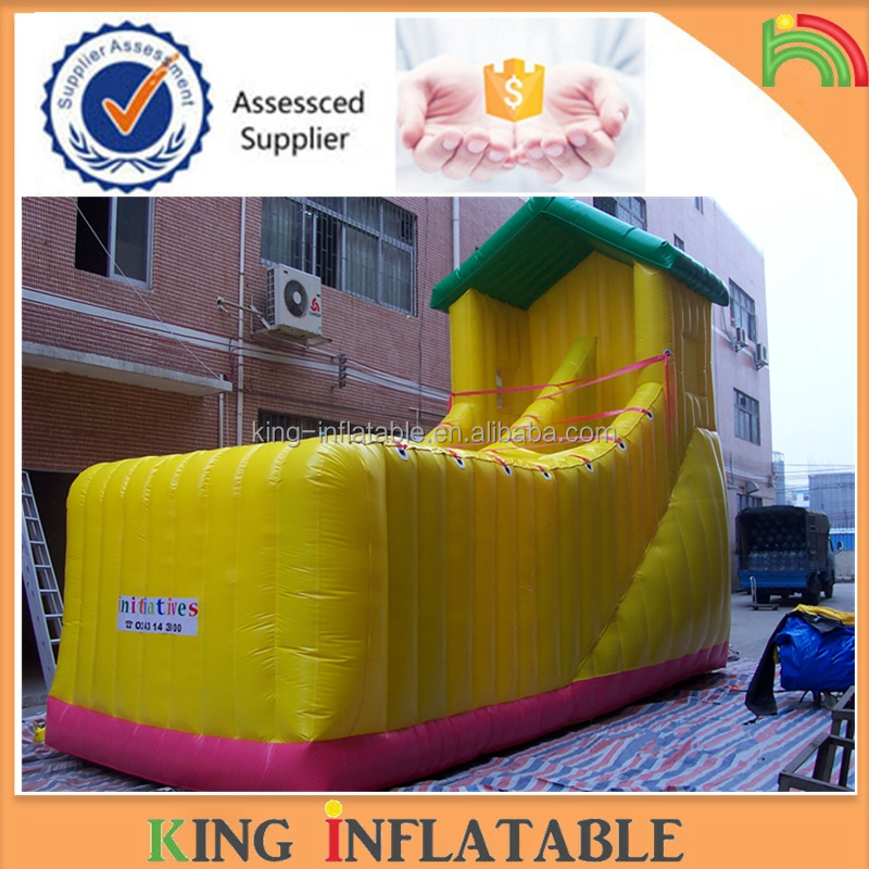 Inflatable Outdoor Kids Bounce House Screamer Water Slides With High Guard Bar