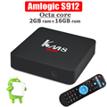 VIDEOSTRONG KM8 Pro Smart TV Box Android 6.0 Amlogic S912 Octa-Core 64 bit kodi 4K 2G/16G Mini PC media player