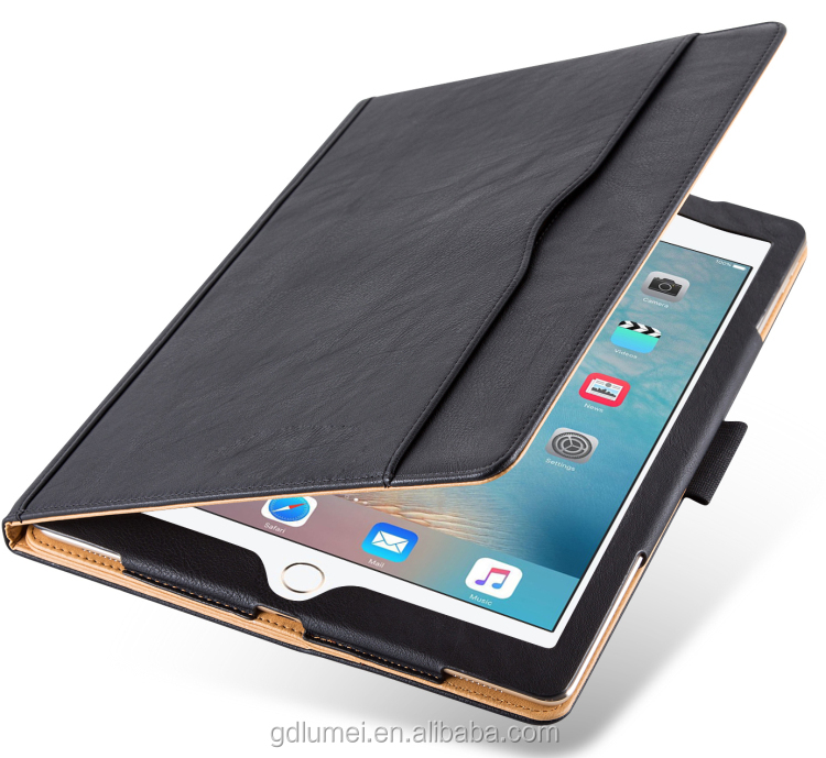 Leather Stand Folio Case Cover For Apple <strong>iPad</strong> Pro 12.9 inch with Multiple Viewing angles auto Sleep Wake