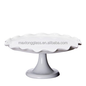Opal White color cake stand