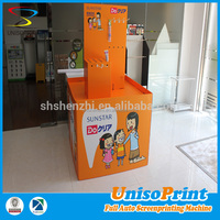 hot sale new design cardboard paper floor display stand,cardboard pos displays stand,cardboard display shelf stand