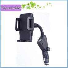 For Samsung Galaxy S3 S4 Dual USB Car Charger Mount Holder