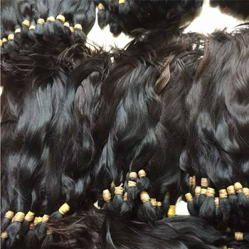 Raw Brazilian virgin hair bulk wholesale 100% unprocessed no tangle cuticle aligned raw virgin hair