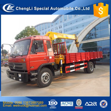 cheap 10 ton cargo truck with 5 ton crane for hot sale, 5ton crane on cargo truck, 5 ton mobile crane