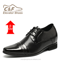 Pointed Toed Men Dress Leather Shoes Fashion Black Shoes Men
