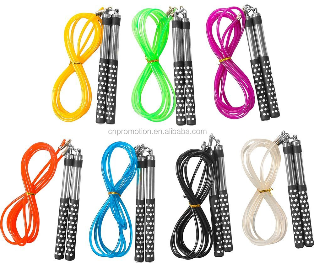 Colorful Crossfit Long Aluminum Handle PVC Jump Rope
