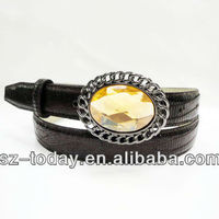 Western New Fashion Metal Rhinestone Belt