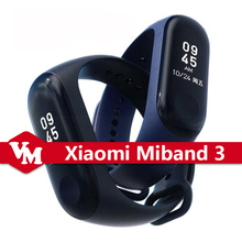 Original Xiaomi Miband 3 Mi band 3 0.78inch Touch OLED Screen Xiaomi Smart Wristband Miband 3 Fitness Tracker Heart Rate Monitor