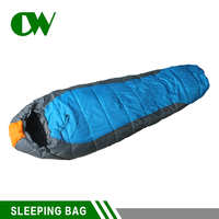 cheap wholesale china blue waterproof 215*75cm nylon polyester cotton outdoor sleeping bag down