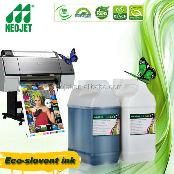 RoHS certification!!!High quality Eco solvent Ink for Epson B6070