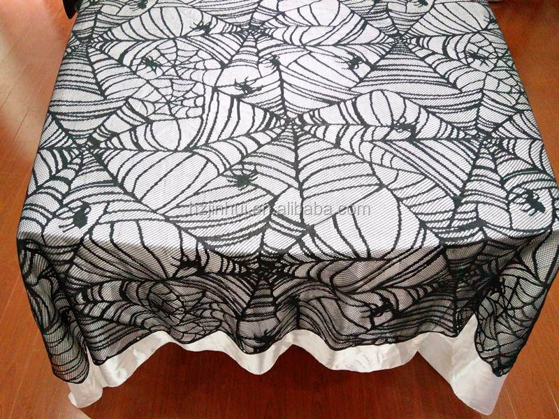 Haunted Hallows Halloween Spider Halloween Decoration Spider Web Table Cloth Table Cover