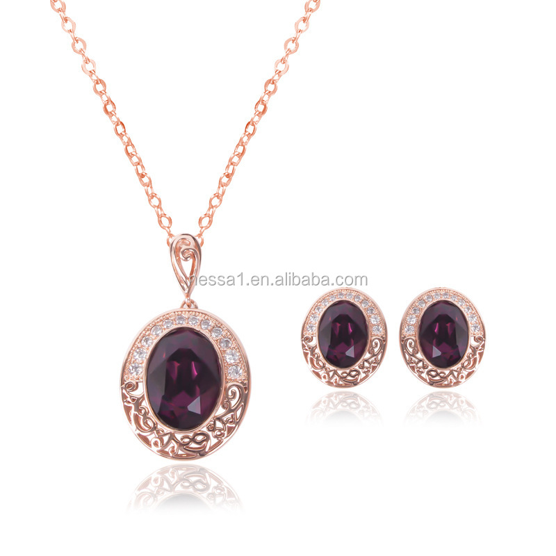 Fashion african jewelry sets simple necklace earring sets Wholesale NSJS-00025