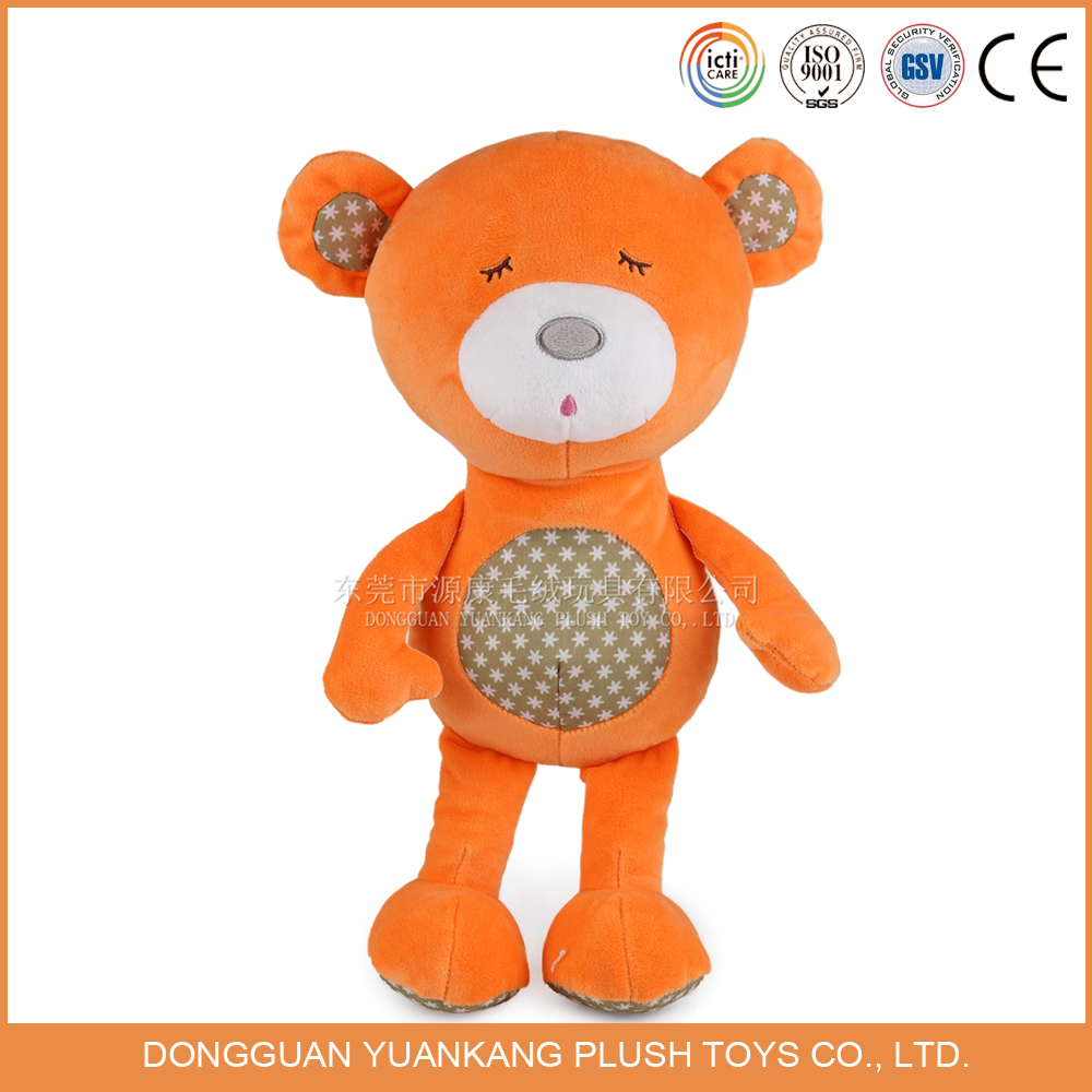 China chuddy plush orange teddy bear