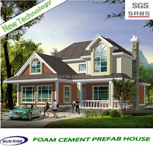 2014 new design fast installation prefab villa/prefabricated wooden log house