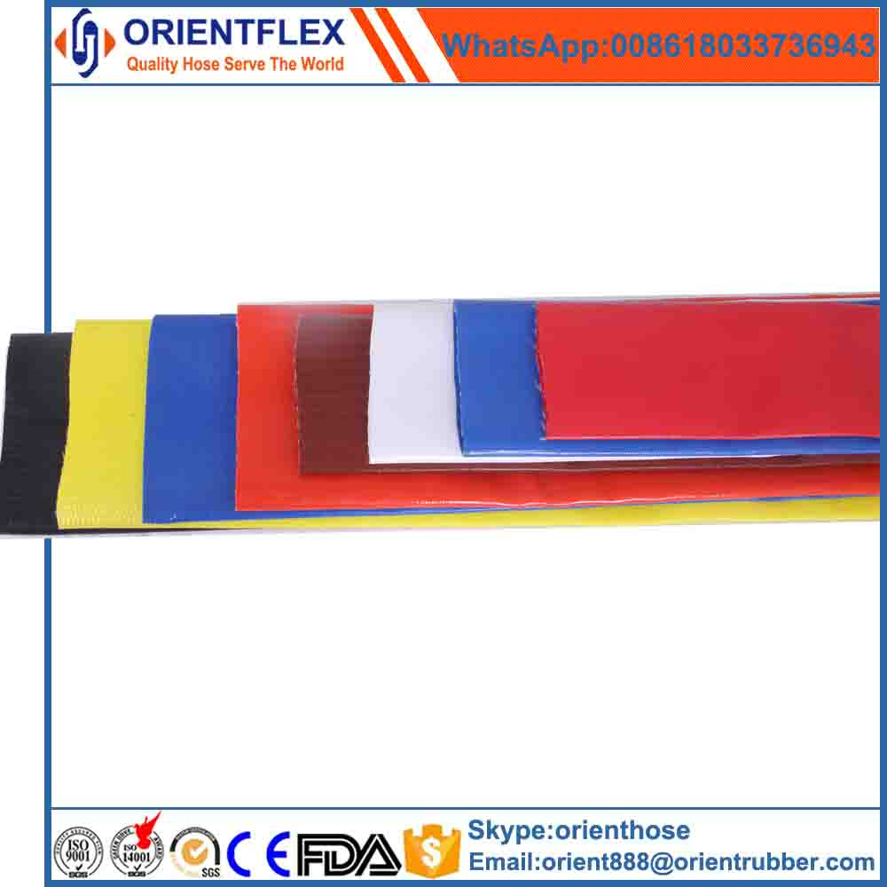PVC material lay flat irrigation hose with brass fittings