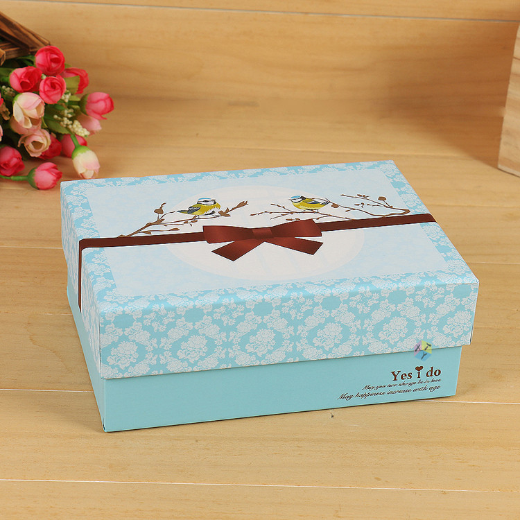 card color printing tiffany blue gift boxes wholesale