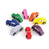 FQ brand hot selling new style baby interests small colorful toy wooden toy model car