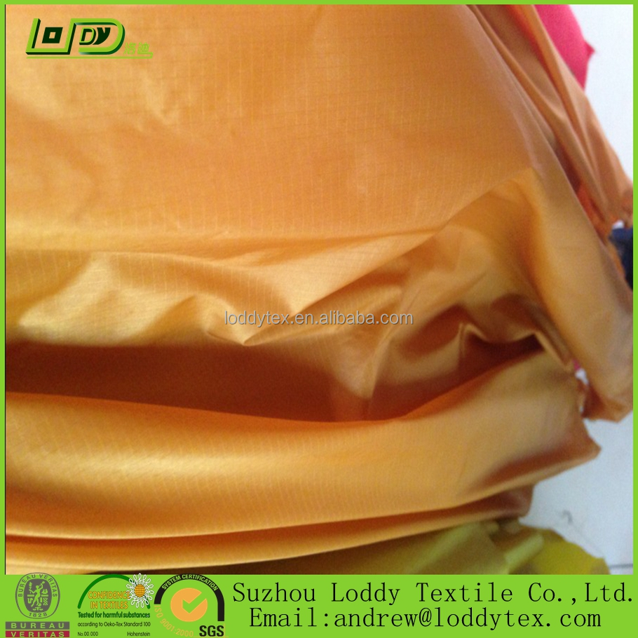 Silicone Tent Fabric 20D Nylon Ripstop Fabric with Two Sides Silicone coated