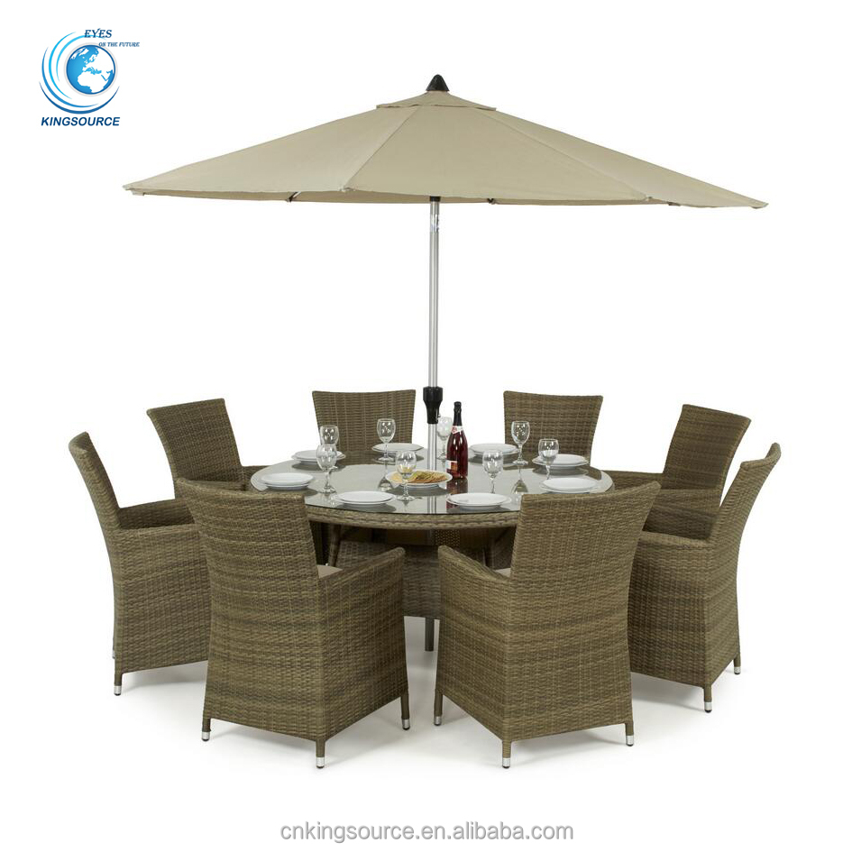 Wholesale promotional garden rattan dining set wicker outdoor patio <strong>furniture</strong>