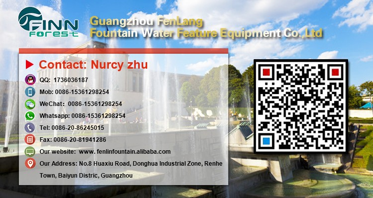 Musical control outdoor water fountain for hotel decotation