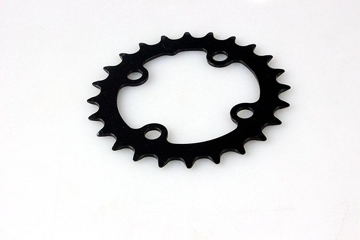 Cheap 1/2*1/8*24T Black Steel Bicycle Chainring