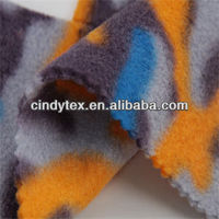 100d drapery double sides brushed 100% polyester anti pilling printed knitted fleece fabric