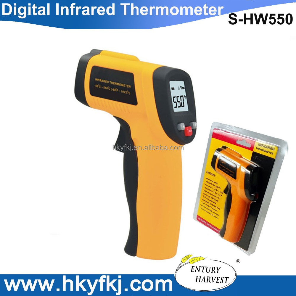 Industrial infrared heat gun digital termometer thermometer temperature sensor