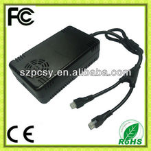 OEM 48v switching power supply 48v 12.5a 600W with PC casing adaptor 2in1 connectors