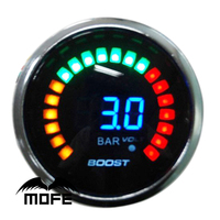 MOFE Racing LCD 52mm Digital 3 Bar Turbo Boost Gauge