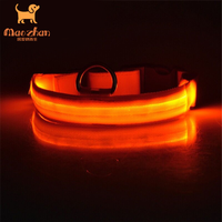 Integrated Circuit buckles dog collars buckle for collar bright double-line led pet