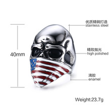 Most popular enamel technique high quality stainless steel 925 silver skull jewelry nipple ring
