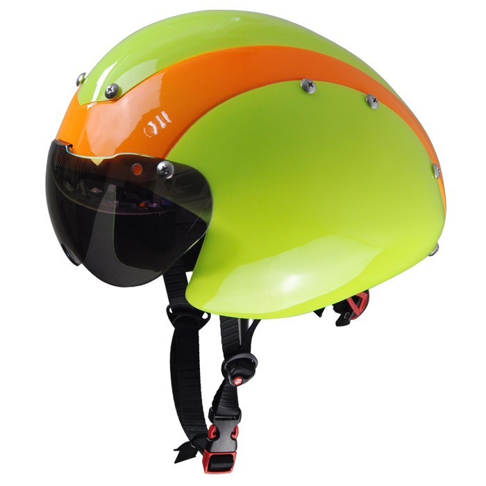 New professional adults time trial bicycle helmet with goggles