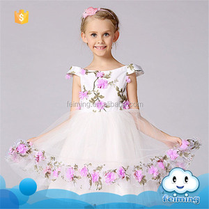 SD-1088G Hot sale girl party wear western kids clothes net frocks designs for kids name brand party dress for girls
