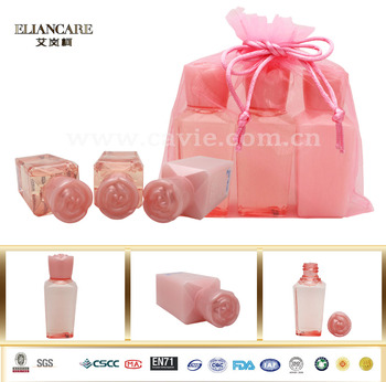 3x50ml Beauty Products Shower Gel Body Lotion Bath Spa Gift Set with Rose Lid