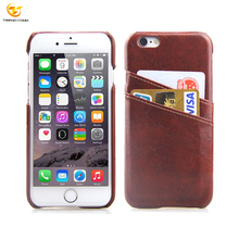 Hot for Apple iPhone 6 Cell Back Hard Cover Holder Real genuine Card Leather Wallet Phone Case