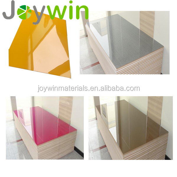 Guangdong Shenzhen factory High gloss mdf board for kitchen cabinet