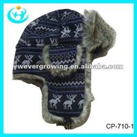 Knitted trapper hats