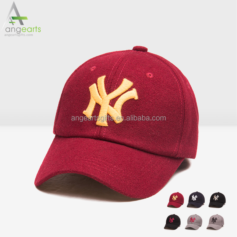 Custom 3D Embroidery Wool Hat high quality baseball cap and winter hat