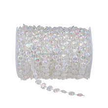 Wholesale clear crystal acrylic bead chain curtain for tree flower decoration