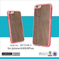 Factory price wooden cell phone case wooden case TPU phone case