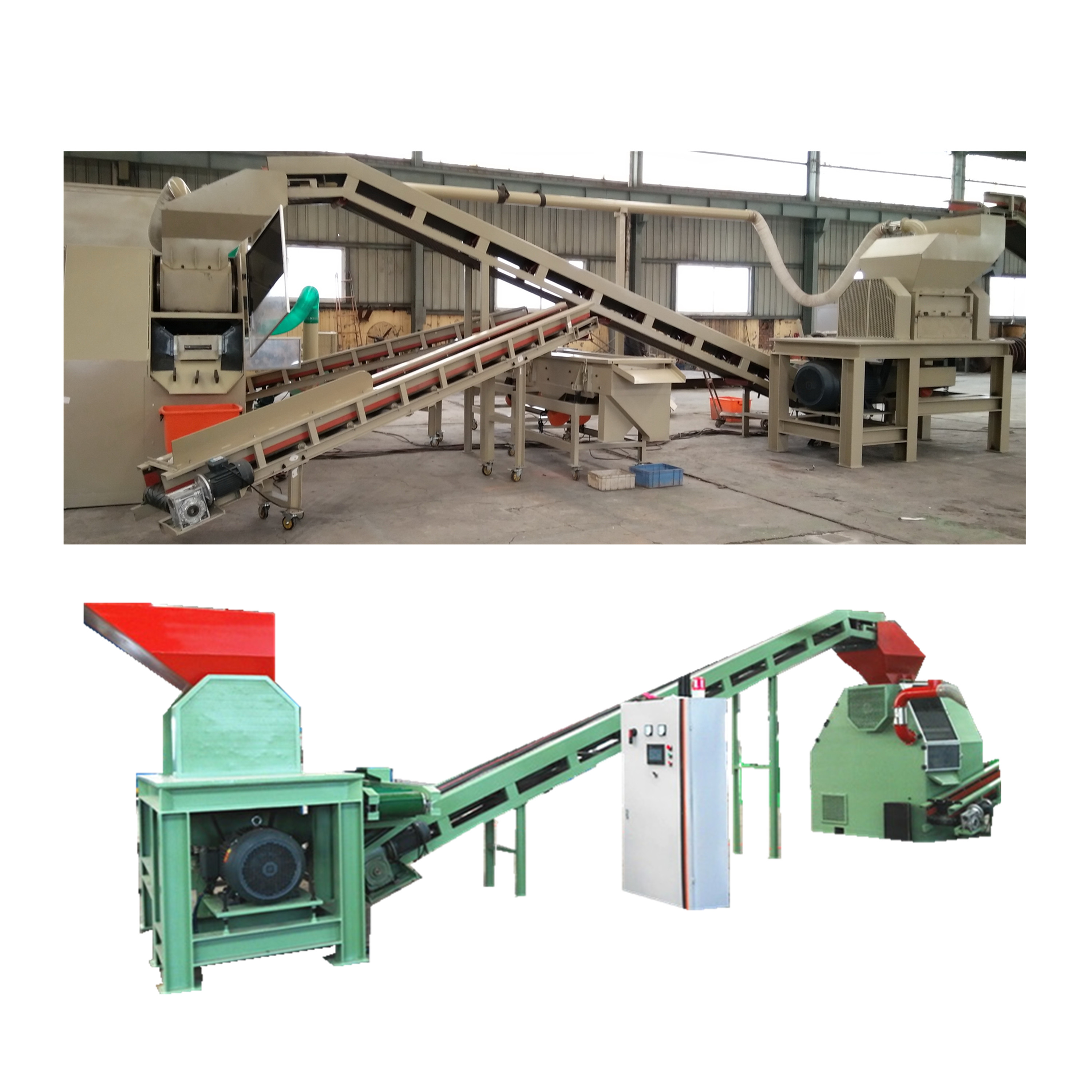 <strong>Waste</strong> Copper Cable Recycling Chopper Shredder Machine / Wire Copper Alunimun Separating Granulators
