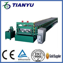 metal zinc sheet building floor decking panel making machine cold roller former on canton fair