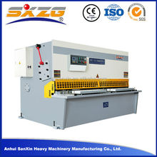 China manufacturer Anhui sanxin different type of cutting machine hydraulic swing beam iron steel plate sheet shear